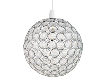 Endon Oakley Non-Electric Pendant, Chrome Plate Finish With Clear Acrylic Beads - NE-OAKLEY-CH